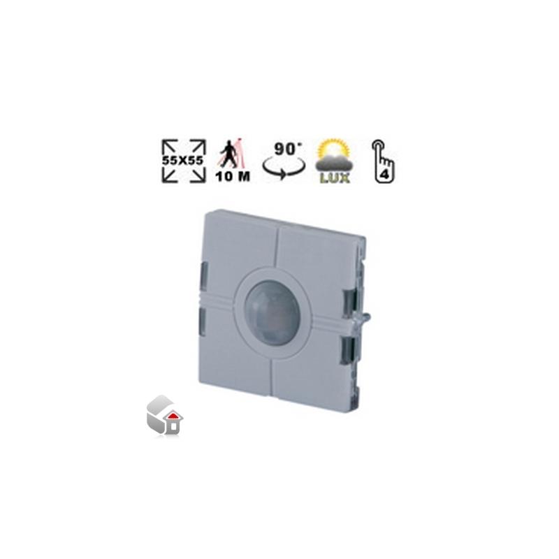 Eunica-Serie - Lichtschalter mit PIR-Sensor und Luxmeter SHE5XLS4P90L