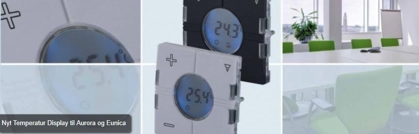 Nyt Temperatur Display til Aurora og Eunica